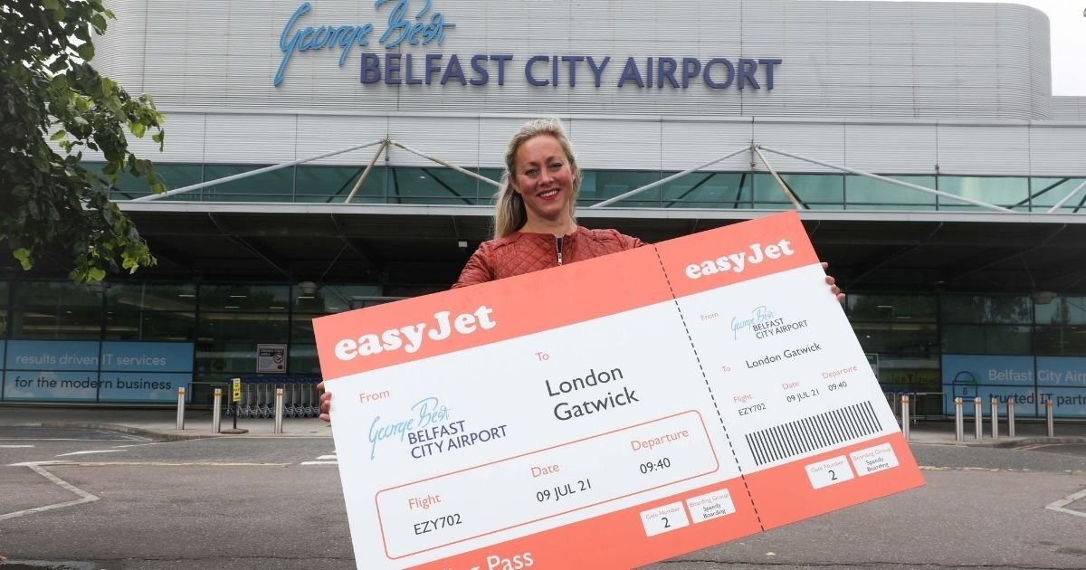 New London Gatwick route Belfast city airport